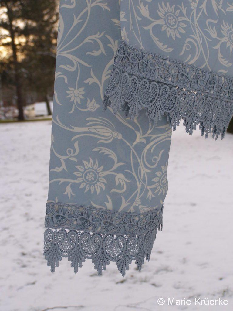Schal bleu Spitze