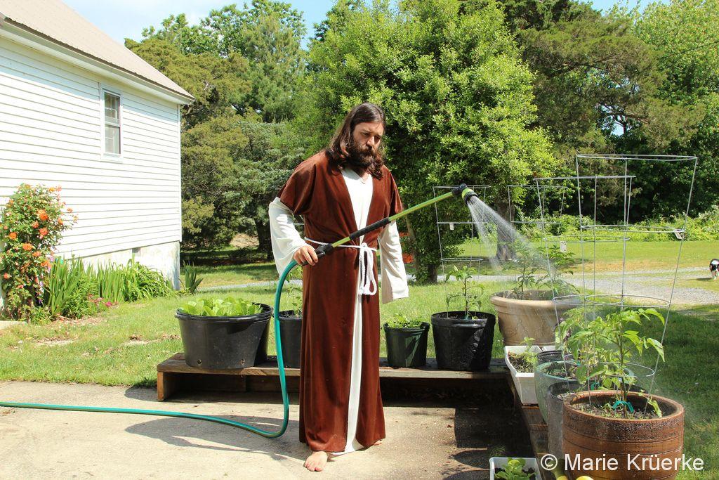 Jesus Watering Thy Garden