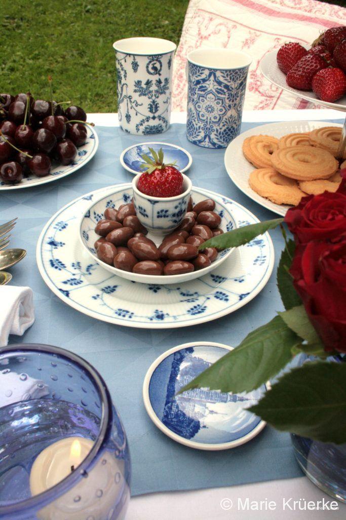 Blau-weiße Teezeit