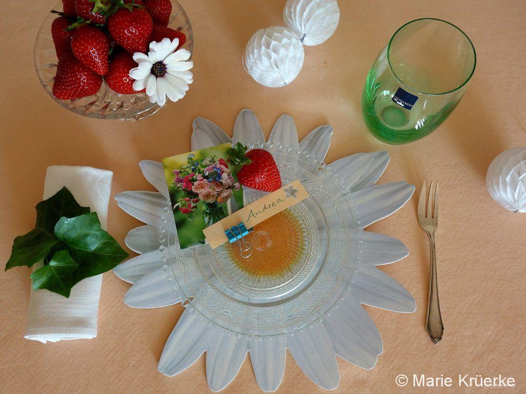 Mageriten-Tischdekoration
