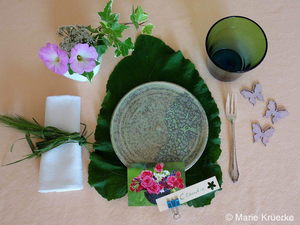 Natürliche Tischdeko