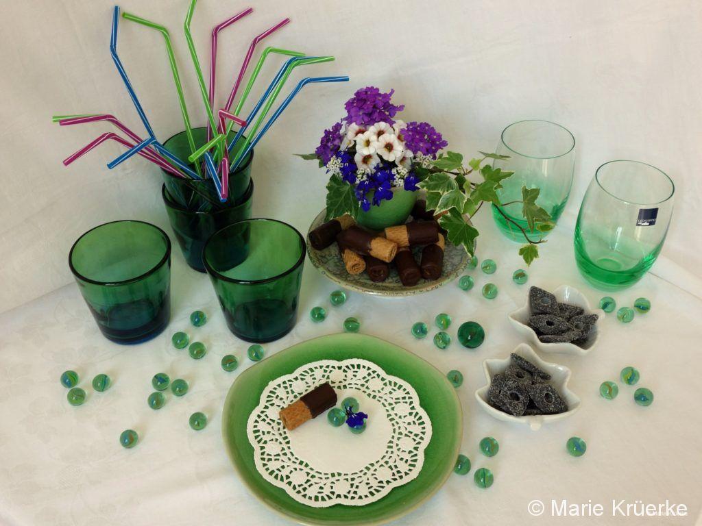 Tischdeko Blau-Grün