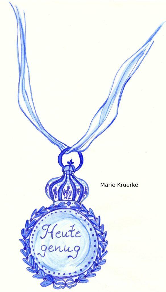 Medaille Tintenzeichnung