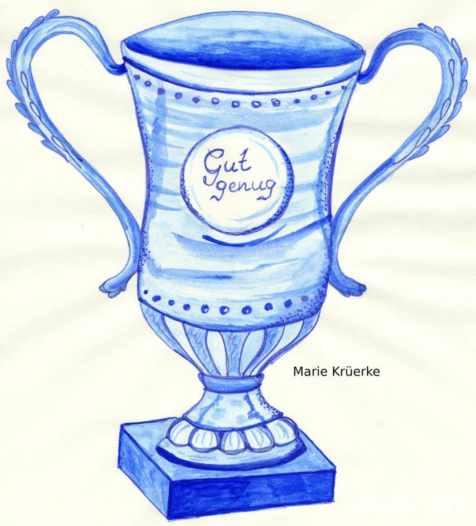 Pokal Tintenzeichnung